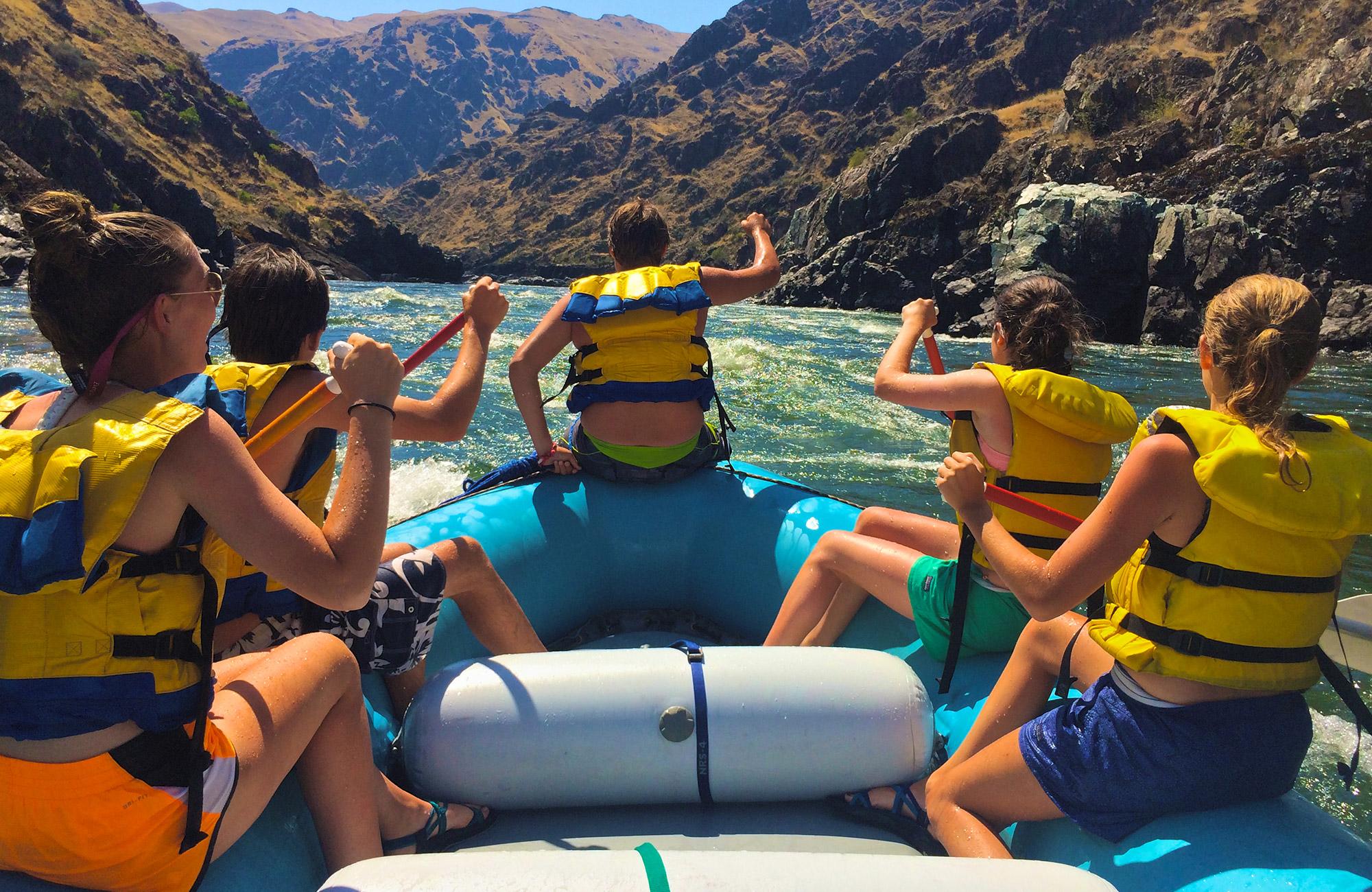 rafting on the big wild trip