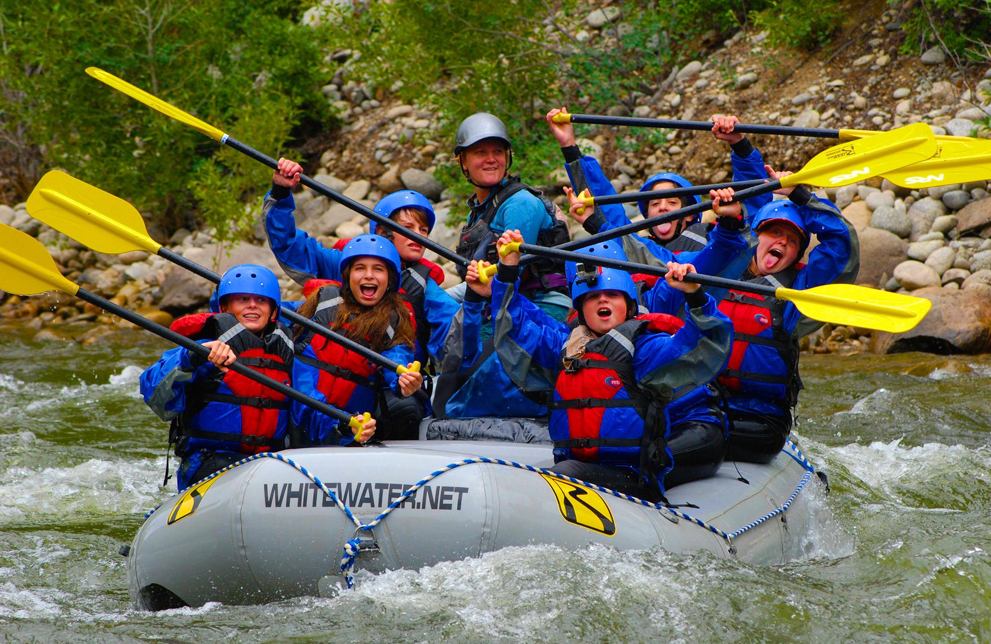 moondance white water rafting teen trip