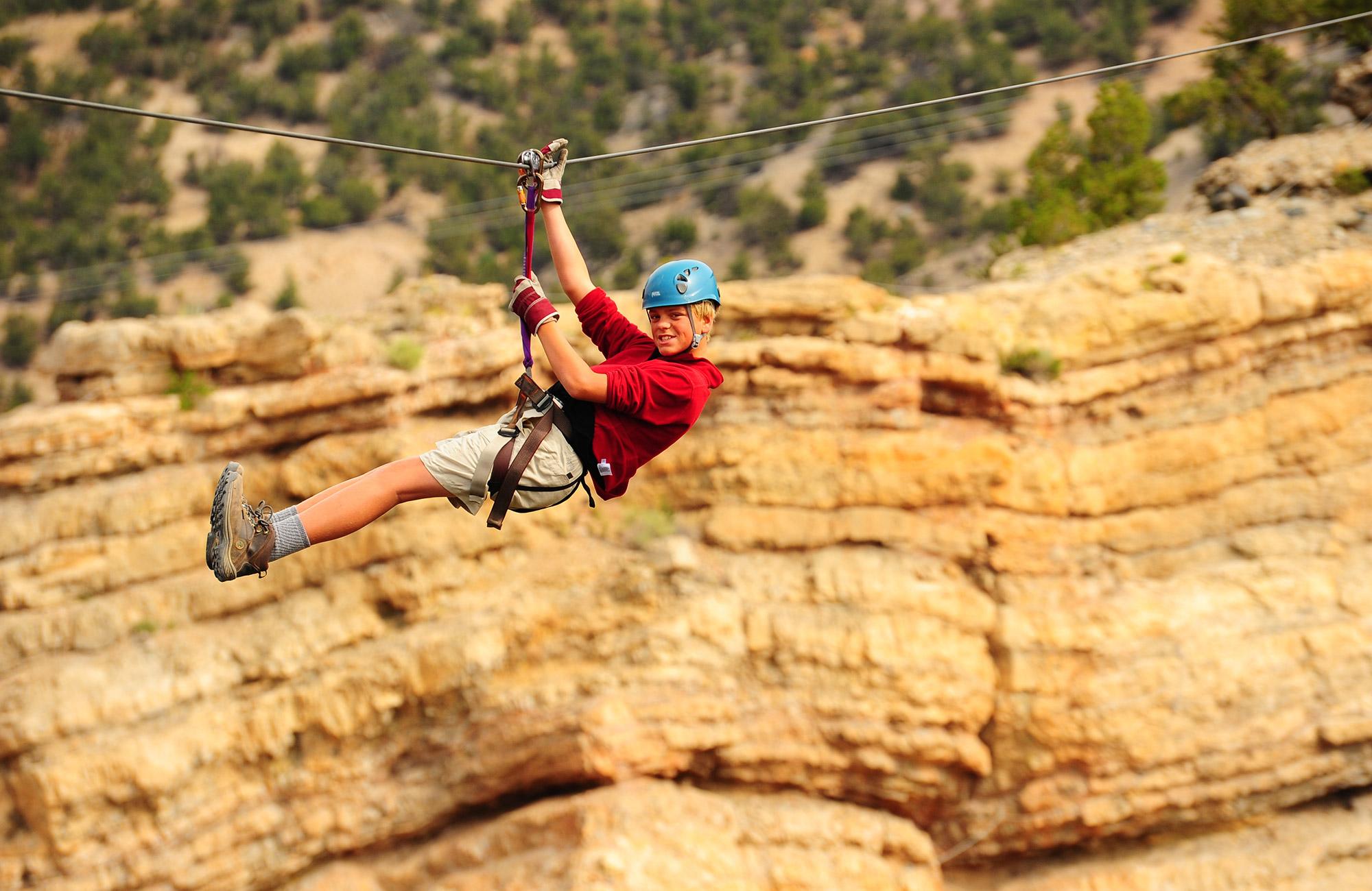 moondance takes teens ziplining in colorado