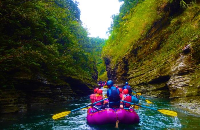 teen rafting trip in fiji