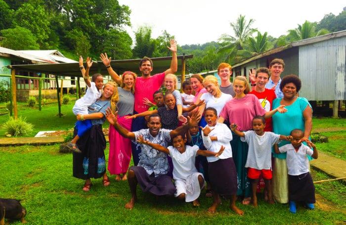 community service trip for teens in fiji