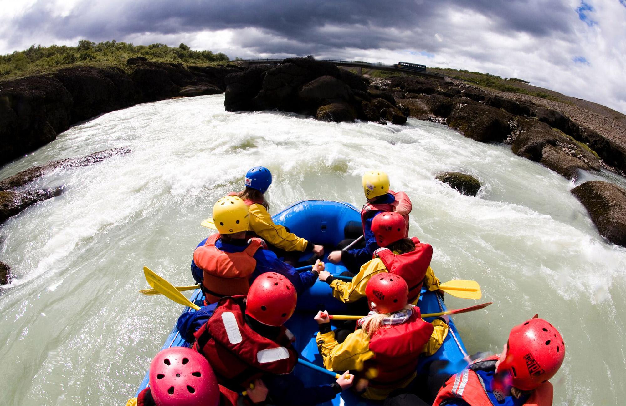 teen adventure rafting trip in iceland