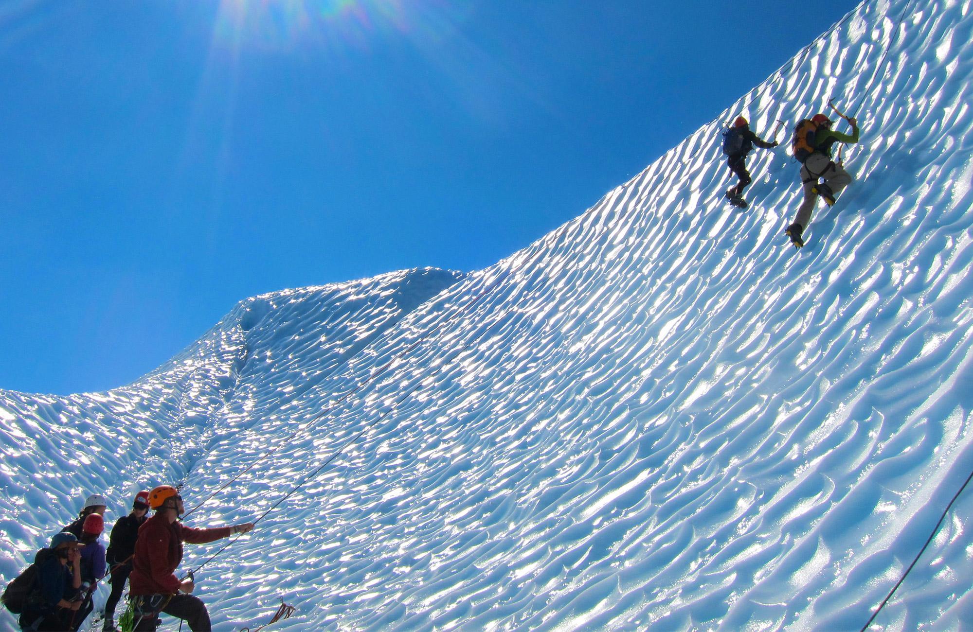 midnight sun ice climbing trip for teens