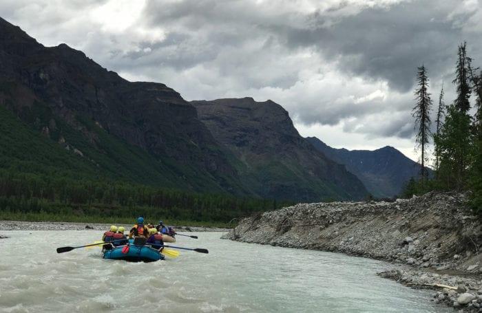 midnight sun rafting trip for teens