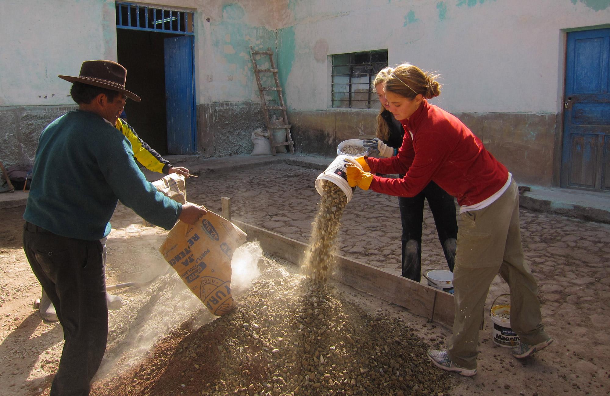 community service trip for teens in peru
