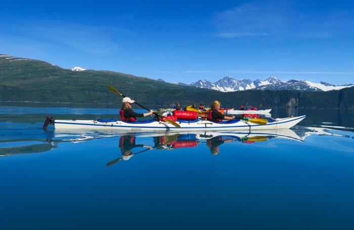 kayak on prince william sound with moondance