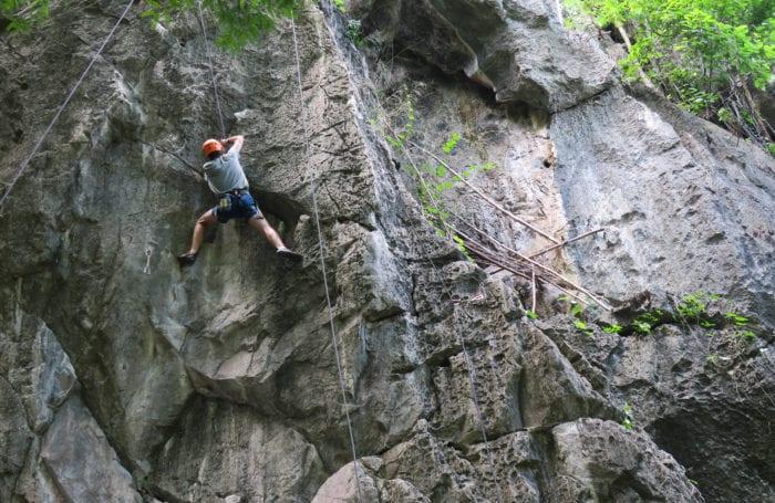 climb the crags Railay Beach Moondance