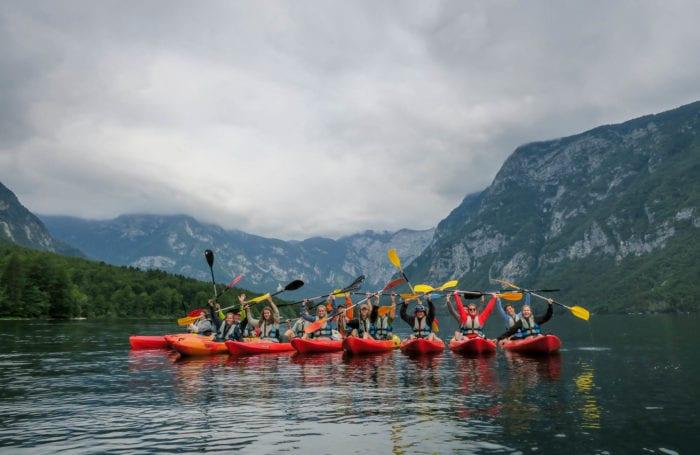Kayaking on Slovenia trip