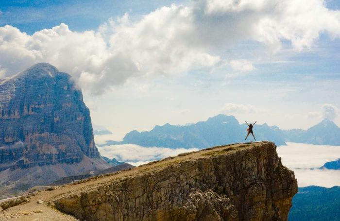 On top of the world on Moondance Adventures