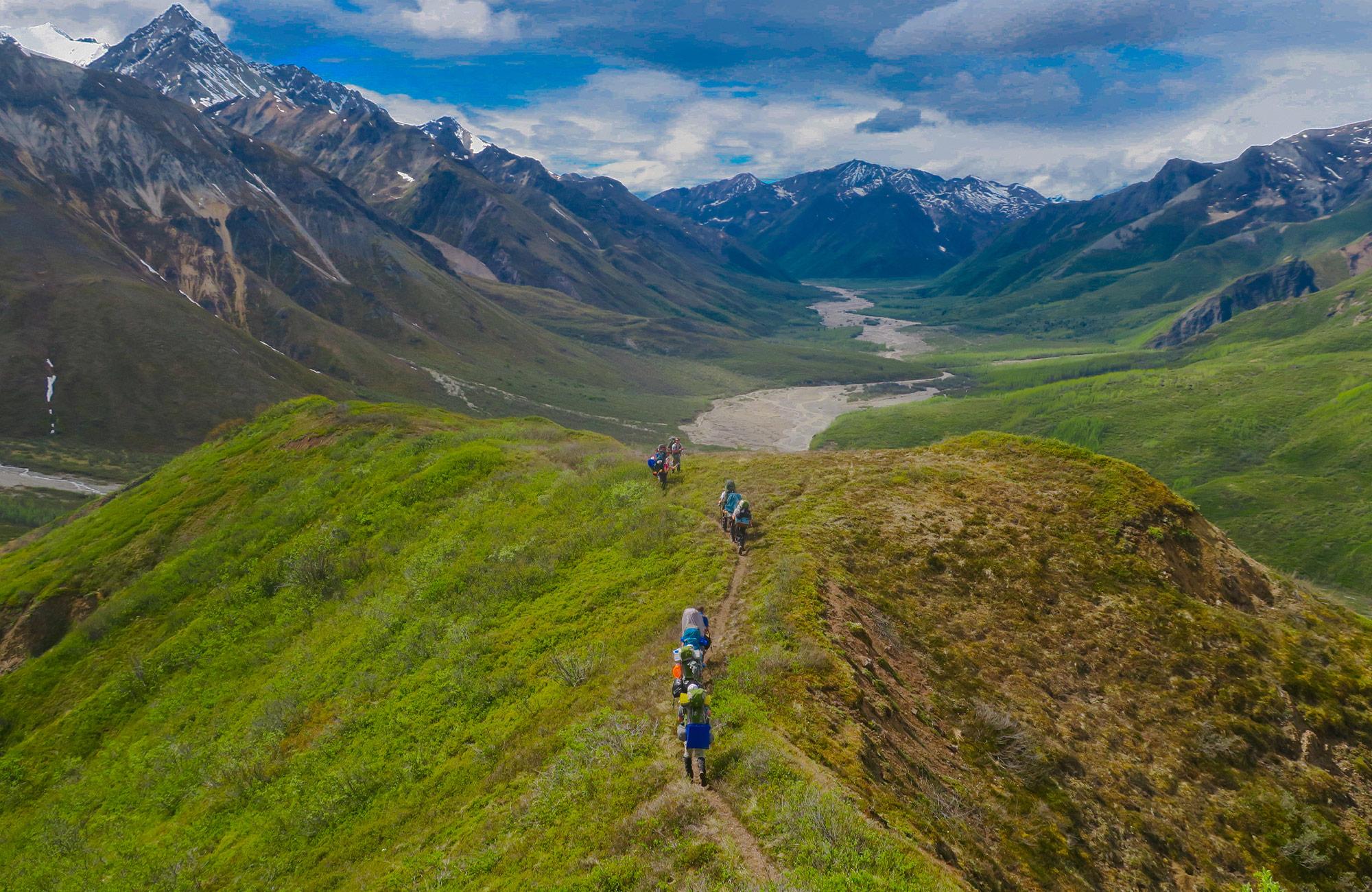 Alaska hiking trails on Moondance