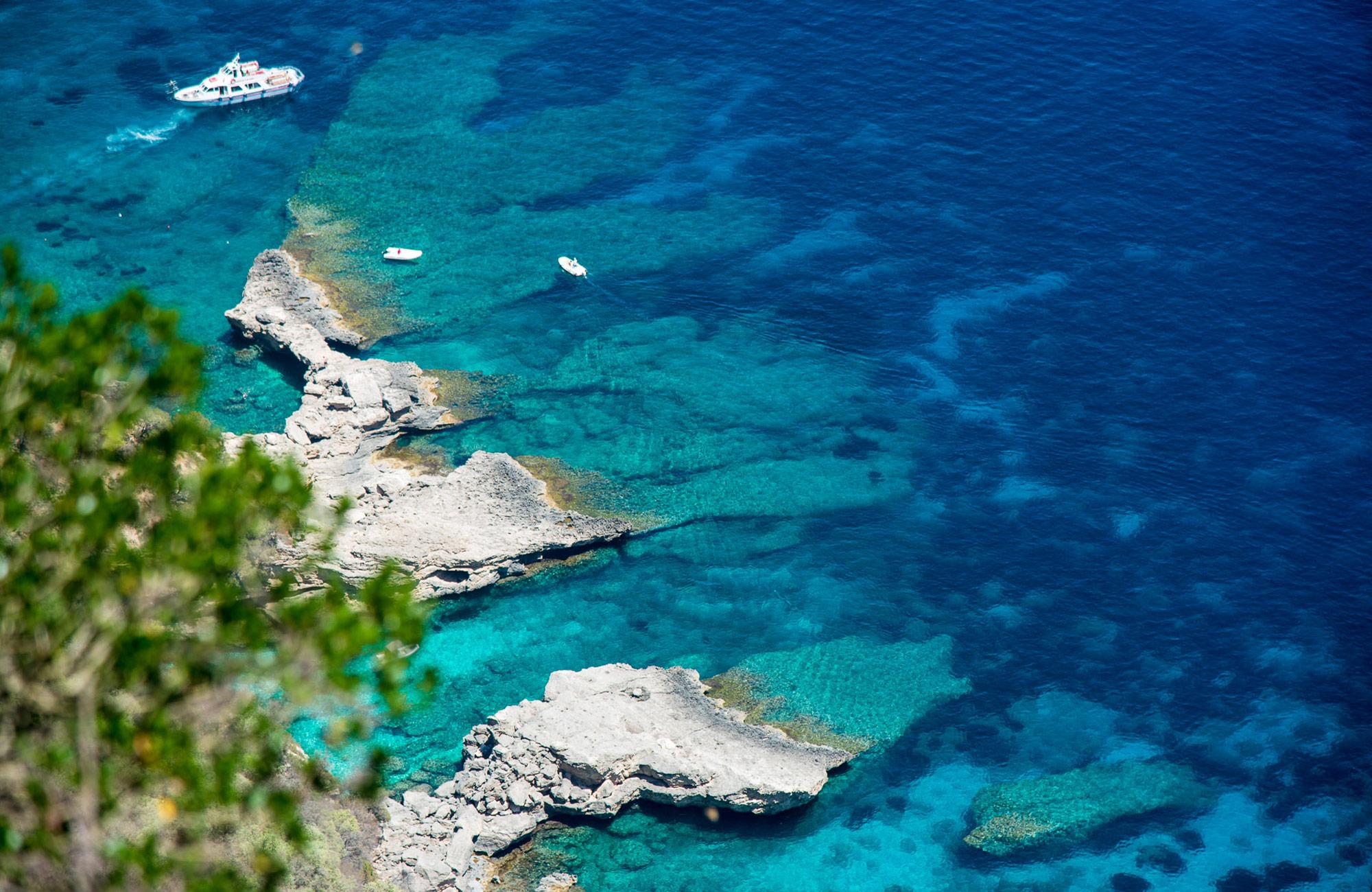Water views on Moondance Sardinia trip